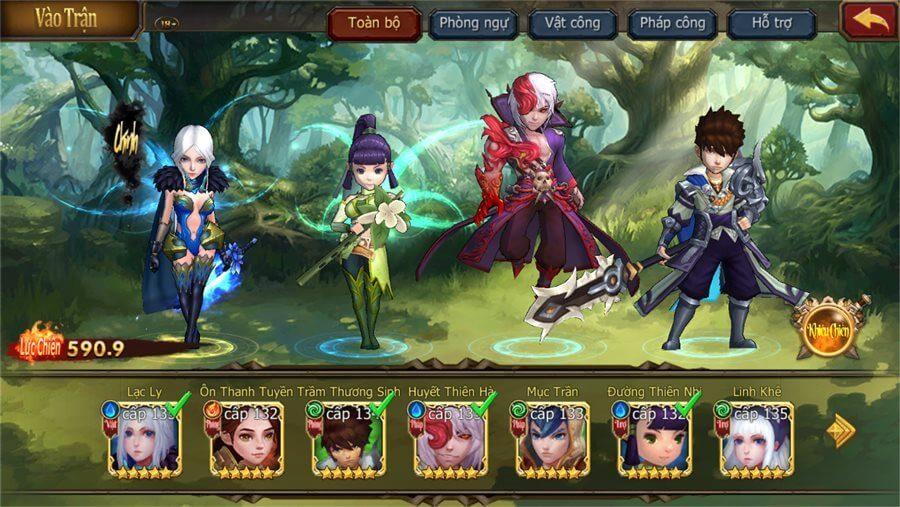 Hệ thống thần tướng trong game Đại Chúa Tể Mobile
