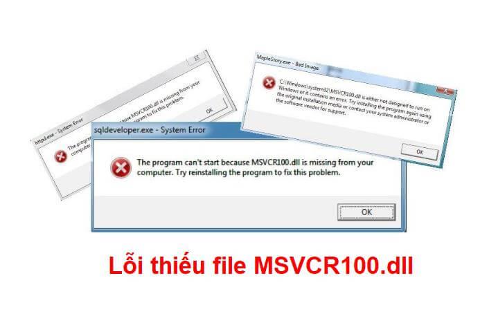 Cách fix lỗi thiếu file msvcr100.dll trên Windows thành công