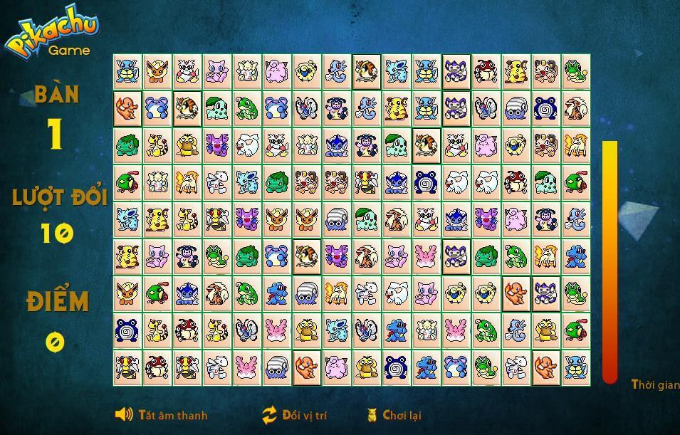 Chơi game Pikachu online – Tựa game xếp hình Pikachu miễn phí